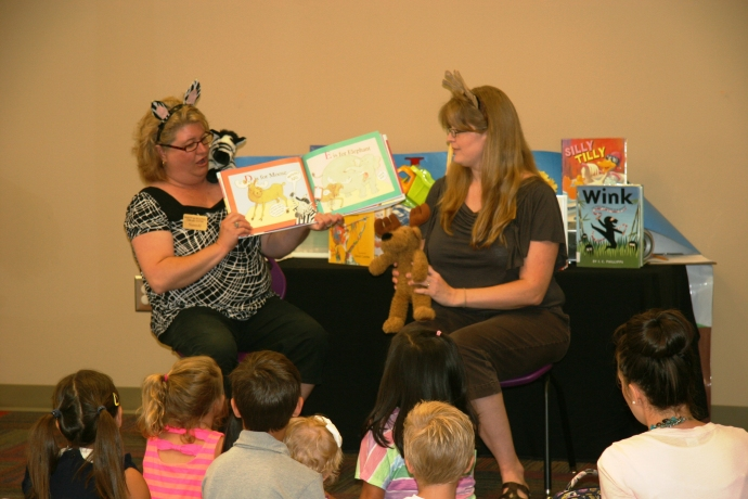 Brooke and Sandi Z is for Moose Storytime